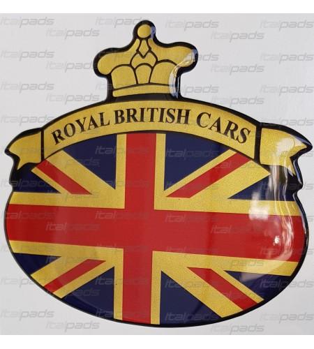 Autocollant Union Jack Royal British drapeau Range Rover doré