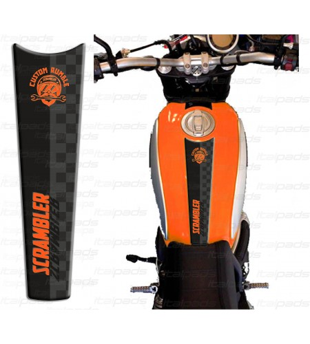 Protège Réservoir orange adapté pour Ducati Scrambler