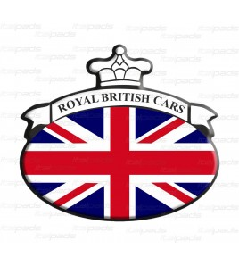 Union Jack Royal British drapeau autocollant Range Rover B/W