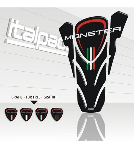 """Protège-réservoir pour DUCATI Corse monster noir """"top wings"""" black TANK PAD + 4 free"""