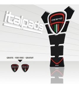 """Protection Protège Réservoir pour Ducati mod. """"TexasEco""""noir/carbone"""