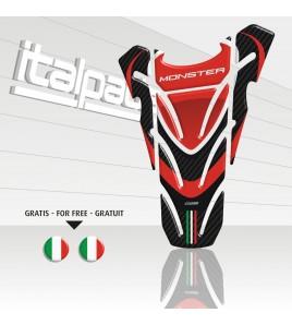 """Protège Réservoir adapté pour Ducati Monster  """"Top Wings"""" carbone + 2 gratuit!!"""