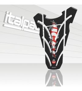 """Protège Réservoir mod. """"Top Wings Ripped"""" carbon look adapté pour Ducati Monster"""