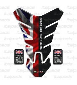 """Protection Protège Réservoir mod. """"Nevada"""" pour Triumph U.K. drapeau Union Jack """"Proudly made in..."""""""