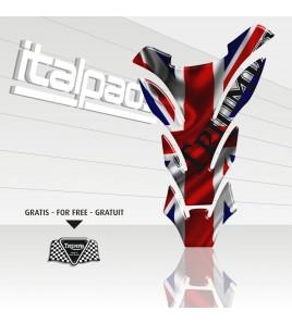 Protège Réservoir  Triumph U.K. Drapeau Autocollant Union Jack DETROIT + 1 sticker GRATIS