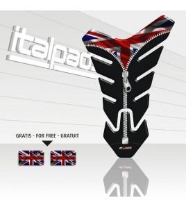 """Protection Protège Réservoir mod. """"Nevada ZIP"""" pour Triumph U.K. drapeau Union Jack +2"""