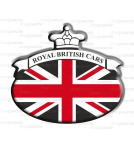 Union Jack Royal British drapeau autocollant Range Rover noir/rouge