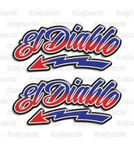 Kit 2 stickers en résine 3D El Diablo hommage Fabio Quartararo 20