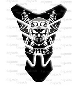 """Protection Protège Réservoir Tank Pad crâne """"Nevada"""" noir"""