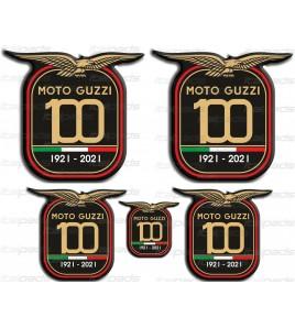 Stickers décoratifs en résine Centenary Anniversary Moto Guzzi