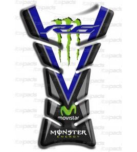 """Protège Réservoir  """"Classique Sport"""" bleu carbon look pour Yamaha R6"""
