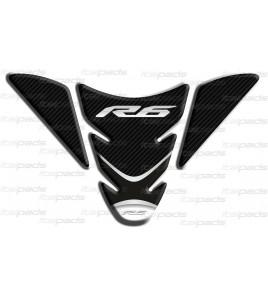 """Protection Protège Réservoir  """"Wingside"""" pour Yamaha R6 noir carbon look"""