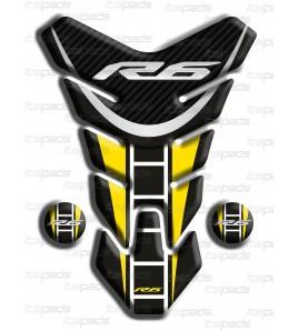 """Protection Protège Réservoir Yamaha R6  """"Nevada"""" noir jaune L"""
