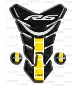 "Protection Protège Réservoir Yamaha R6  ""Nevada"" noir jaune C"
