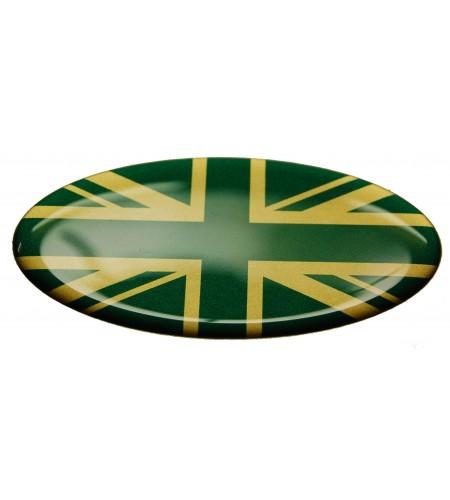 Union Jack Royal British drapeau autocollant Range Rover OVAL vert doré