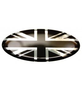 Union Jack Royal British drapeau autocollant Range Rover OVAL 100% noir Chrome