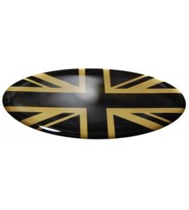 Union Jack Royal British Drapeau Autocollant Range Rover OVAL english noir doré