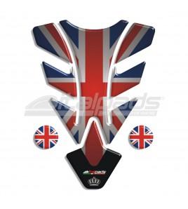 """Protection Protège Réservoir  pour Triumph U.K. drapeau Union Jack (noT) mod. """"Illinois Top"""" + 2 gratuit!!"""