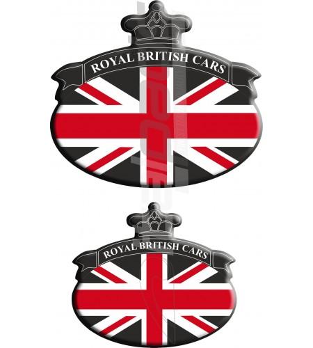 Set. 2 Autocollants Union Jack Royal British drapeau Range Rover noir