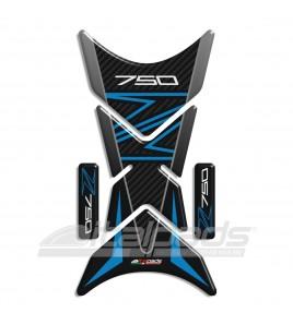 """Protège Réservoir pour Kawasaki Z750 bleu/azur mod. """"Shark""""+2 Gratuit"""