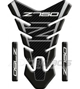 """Protection Protège Réservoir pour Kawasaki Z750 mod. """"Nevada"""" tons gris"""