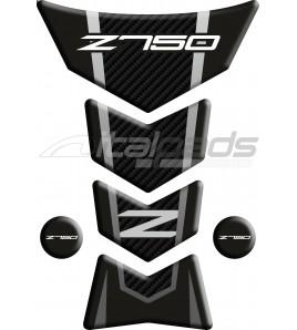 """Protection Protège Réservoir pour Kawasaki Z750 mod. """"Frames"""" tons gris"""