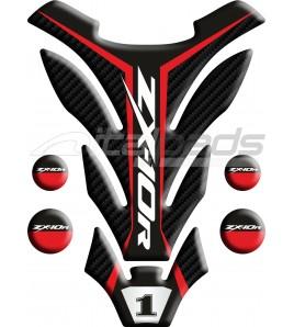 """Protège Réservoir pour Kawasaki ZX10-R rouge mod. """"Detroit"""""""