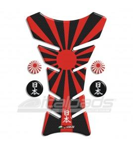 Protège Réservoir Japon Drapeau HoneyComb noir + 4