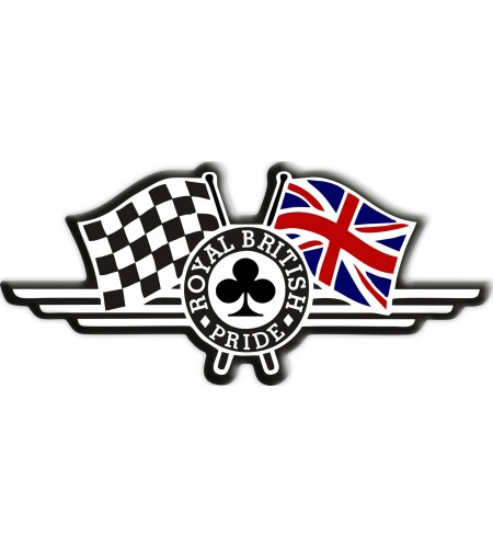 "Union Jack drapeau autocollant ""Royal British Pride"" Triumph"