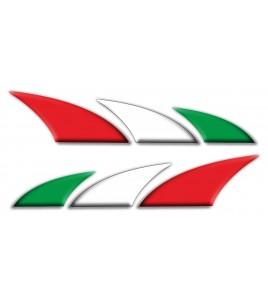 Kit 2 autocollants décoratifs Italie drapeau italien pour les voitures et les motos
