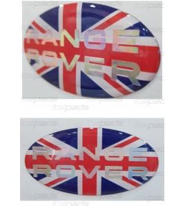 Union Jack Royal British drapeau autocollant Range Rover texte de chrome nacré
