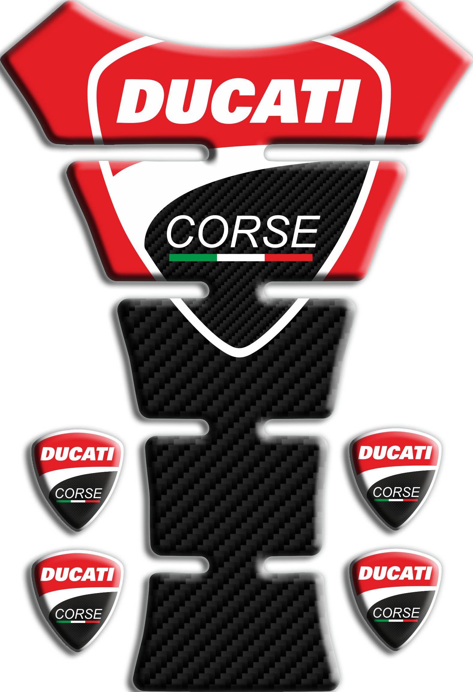 Protection de reservoir Moto MODELS en Gel compatible DUCATI corse Pad r/éservoir 3D